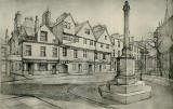 Old Houses in Edinburgh  -  Drawing by Bruce J Home  -  Huntly House