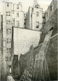 Old Houses in Edinburgh  -  Drawing by Bruce J Home  -  Morrison's Close