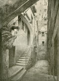 Old Houses in Edinburgh  -  Drawing by Bruce J Home  -  West Bow