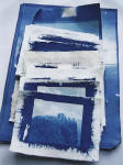 Cyanotype prints  -  printed by Norma Thallon at Hospitalfield House  -  2003