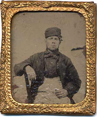 Tintype Photo of Man  -  framed