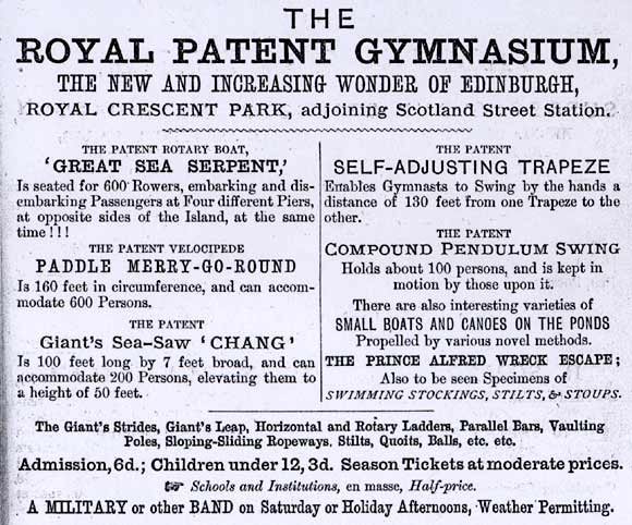 Advertisement for the Royal Patent Gymnasium, 1867