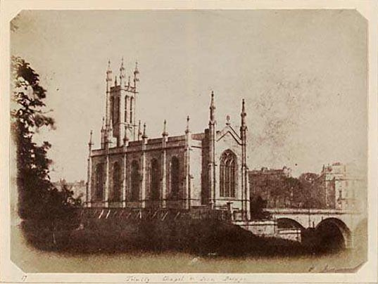 Photograph from Edinburgh Calotype Album  -  Volume 2, Page 11  -  Holy Trinity Church, Dean Bridge