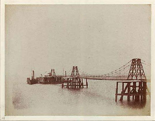 Photograph from Edinburgh Calotype Album  -  Volume 2, Page 95  -  Chain Pier