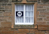 Photos taken in Edinburgh on voting day in the  Scottish Indepemdence Referendum on 18 September 2014  -  'No' Campaign Poster at Grange