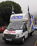 Photos taken in Edinburgh on voting day in the  Scottish Indepemdence Referendum on 18 September 2014  -  Outside the Scottish Parliament