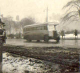 A_single-decker SMT bus in St Andrew Square, 1948