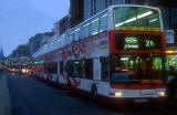 Lothian Buses  -  Princes Street, heading to the east  -  22 December 2000 at around 4pm