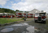 LRT Buses at Lathalmond Vintage Bus Museum, August 2009