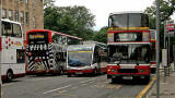 Buses at North St David Street  -  July 2009