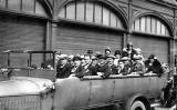 A Charabanc at Newhaven Fishmarket  -  Some time before 1928