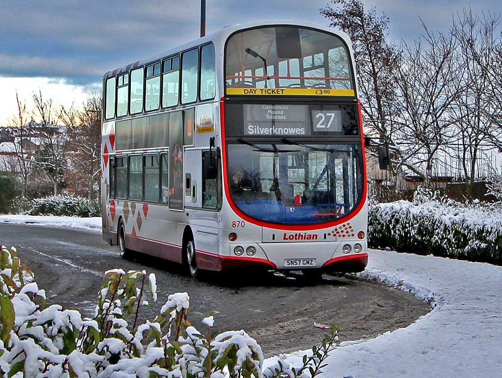 Lothian Buses  -  Terminus  -  Hunter's Tryst  -  Route 27