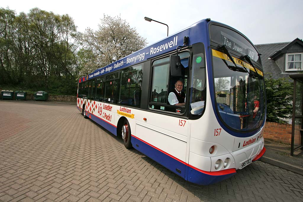 Lothian Buses  -  Terminus  -  Rosewell -  Route 49