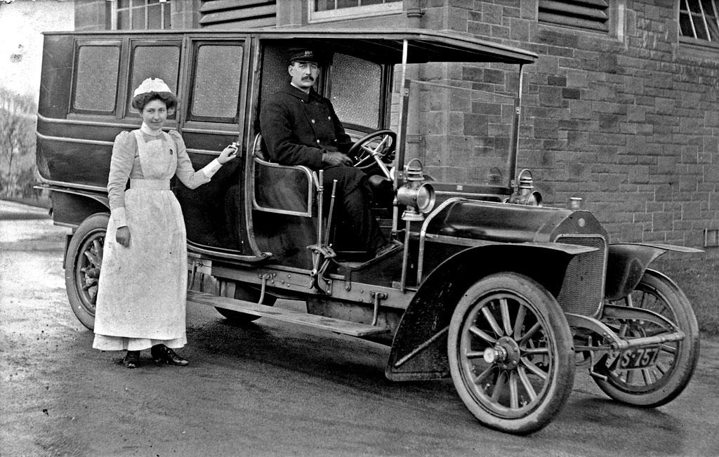 Photograph Taken In 1907 Nurse Miss Mary Barrie Scott