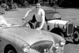 Bill Baxter with Austin Healey and 1939 Austin 7