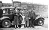 The Leckie Family and Car, around 1937
