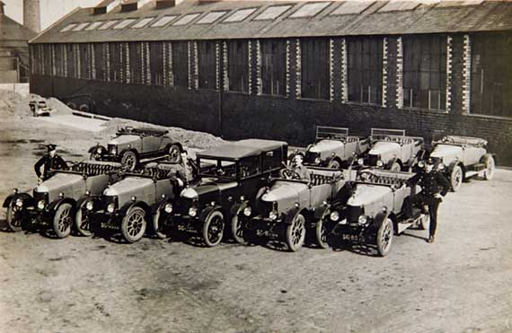 Edinburgh  -  The City Cars  -  probably in the 1920s