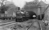 An engine emerges from the southern end of Rodney Street Tunnel  -  1904