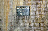 Scotland Street Tunnel  -  World War 2 sign  -  photographed 2006