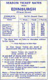 Season Tickets for the Train Service from Edinburgh Princes Street station to Leith (North) station  -  1960