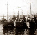 Three Minesweepers at Granton Harbour