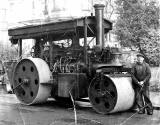 Percy James Hambly and a steam roller
