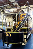 Edinburgh Street Tramway Copany  -  Horse-drawn Tram  -  Restored 2012  -Seen here at Lathalmond Vintage Bus Museum, August 2013