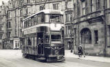 Tram on the Granton Route  -   at Merchiston Place