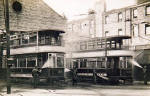 Washing trams at the Tram Depot