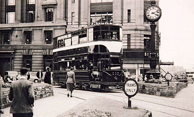 Tram at the West End of Pirnces Street