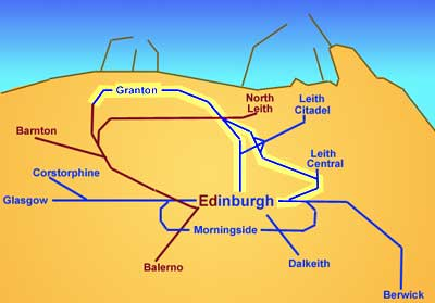 Edinburgh Railways  -  Edinburgh to Granton