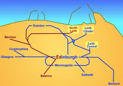 Edinburgh's Railway  -  Three Railway Stations in Leith