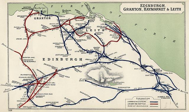 edinburgh railways 1928