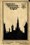 Edinburgh Transport Map Cover - 1924