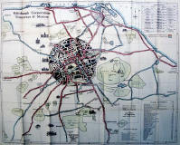 Edinburgh Corporation Transport Department  -  Map to Tram and Bus Routes  -  1928
