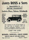Advert on 1928 Transport Map  -  Cars for sale and to hire