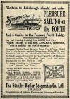 Advert on 1928 Transport Map  -  Pleasure Sailings on the Forth