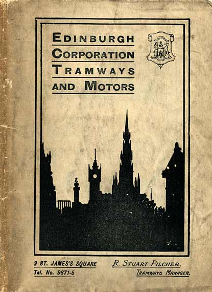The front cover of an Edinburgh Corporation Transport Department Map  -  published around 1928