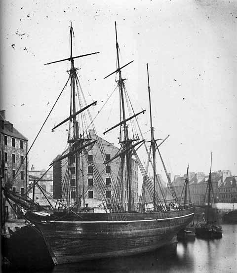Leith Inner Harbour  -  Photograph by Begbie