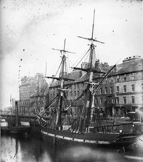 Leith Shore and Ship - Photograph by Begbie