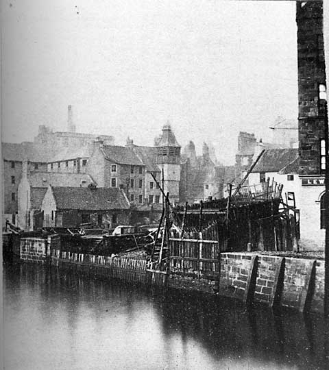 Leith - St Ninian's Wharf - Photograph by Begbie