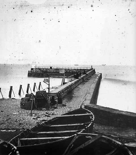 Newhaven Pier - Photograph by Begbie