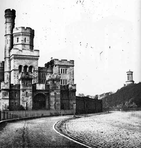 Edinburgh Prison and Calton Hill - Photograph by Begbie