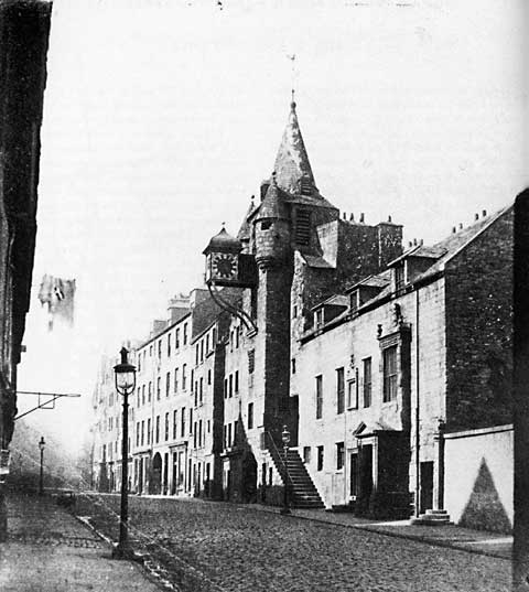 Canongate Tolbooth - Photograph by Thomas Vernon Begbie - late 1850s