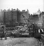 Waverley Bridge - Construction of New Tunnell and Edinburgh Old Town - Photograph by Begbie