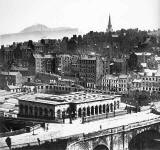 Waverley Station and Edinburgh Old Town - Photograph by Begbie