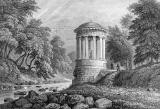 Engraving in 'Modern Athens'  -  St Bernard's Well beside the Water of Leith at Stockbridge