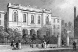 Engraving -n 'Modern Athens'  -  The Methodist Chapel in Nicholson Square