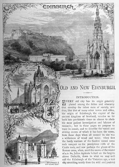 Opening page of 'Old & New Edinburgh'  -  published 1890