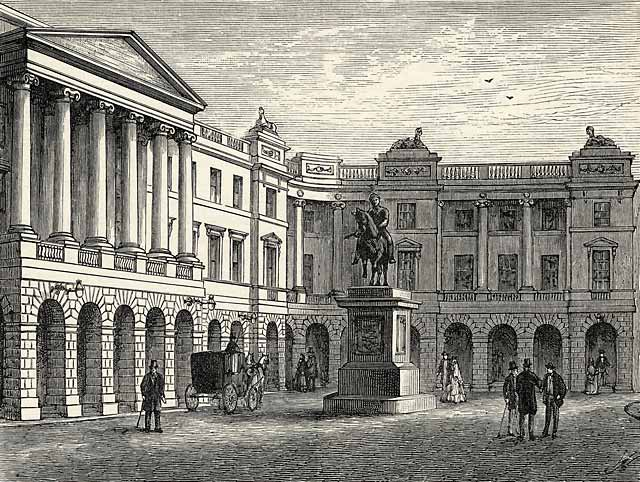 Engraving from 'Old & New Edinburgh  -  The Lawnmarket